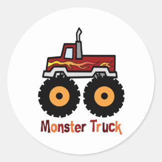 Monster Truck Classic Round Sticker