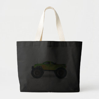 Monster Truck. Cool and colorful modified Pick up Canvas Bag