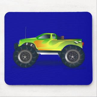 Monster Truck. Cool and colorful modified Pick up Mouse Pad