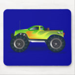 Monster Truck. Cool and colorful modified Pick up Mousepad
