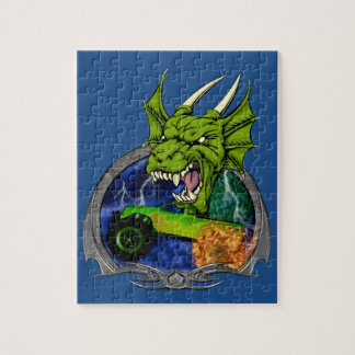 Monster Truck Dragon Jigsaw Puzzle