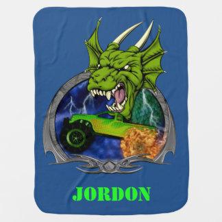 Monster Truck Dragon Swaddle Blanket