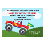 Monster Truck Invitation - Boys Birthday
