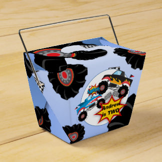 Monster Truck Kids Boy Birthday Favor Box