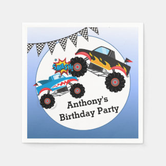 Monster Truck Kids Boy Birthday Party Napkin