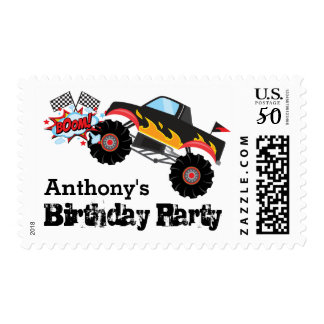 Monster Truck Kids Boy Birthday Party Postage