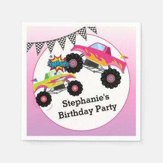 Monster Truck Kids Girl Birthday Party Napkin