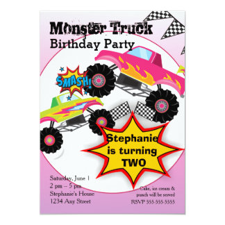 Monster Jam Invitations Announcements Zazzle