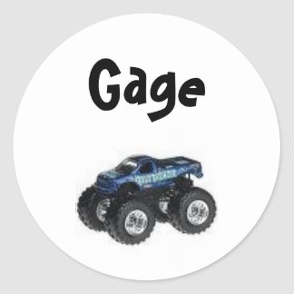Monster Truck Label - Customized