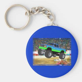 Monster truck maravilloso en la arena llavero