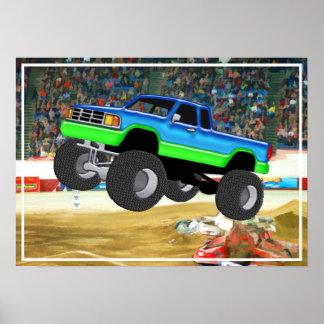 Monster truck maravilloso en la arena impresiones