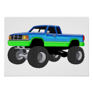 Monster truck maravilloso impresiones