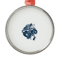 Monster Truck Metal Ornament