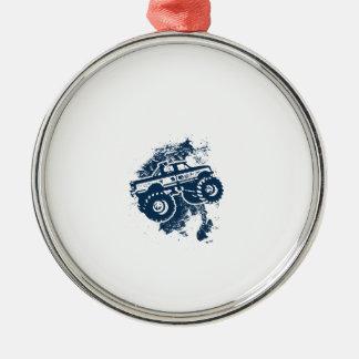 Monster Truck Metal Ornament