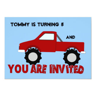 Monster Truck Party Invitation