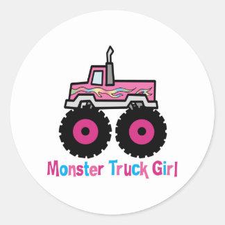 Monster truck pegatina redonda