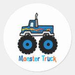 Monster truck pegatinas redondas