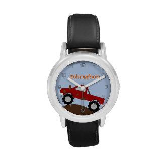 Monster truck personalizado relojes de pulsera