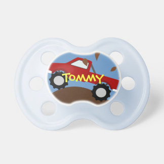 Monster Truck Personalized Pacifier