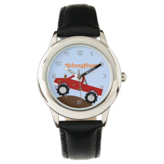 Monster Truck Personalized Wristwatch
