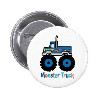 Monster Truck Pinback Button