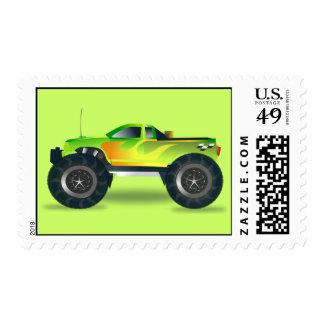 Monster Truck Postage Stamp