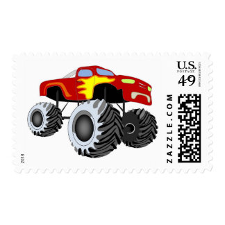 Monster Truck Postage Stamp