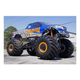 Monster Truck Posters Prints Zazzle