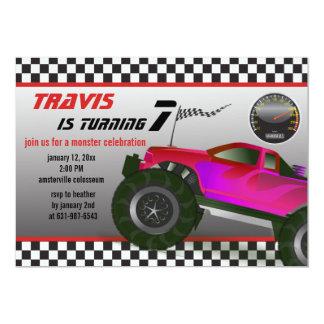 Monster Truck Rally Invitation