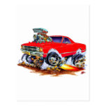 Monster truck rojo 1971-72 del EL Camino 4x4 Tarjeta Postal