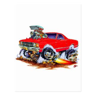 Monster truck rojo 1971-72 del EL Camino 4x4 Postal