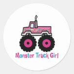 Monster Truck Round Sticker