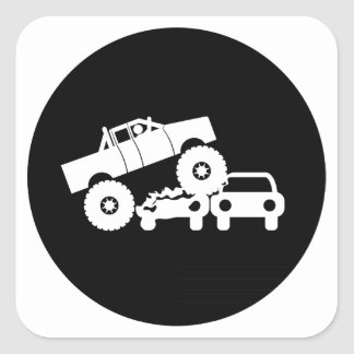 Monster Truck Square Sticker