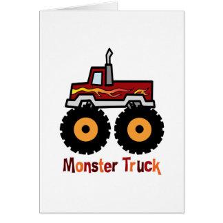 Monster truck tarjeta de felicitación