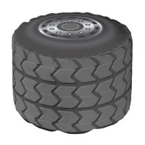 MONSTER Truck Tires #1 Pouf