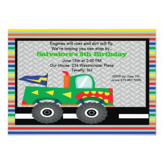 Monster Truck with Teeth Birthday Invitation