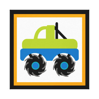 Monster Truck Wrapped Canvas Wall Decor for Kids