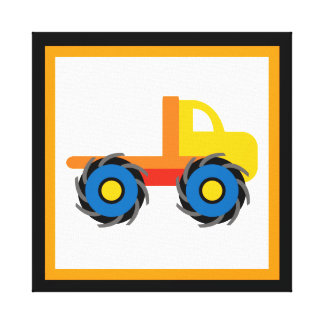 Monster Truck Wrapped Canvas Wall Decor for Kids Canvas Print