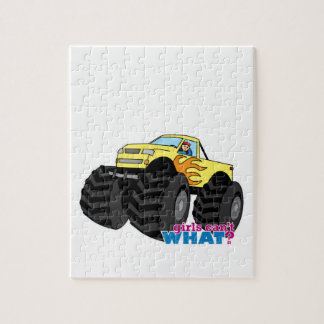 Monster Truck - Yellow Jigsaw Puzzle