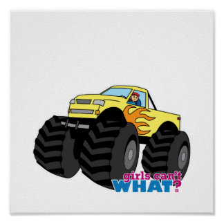 Monster Truck - Yellow Poster