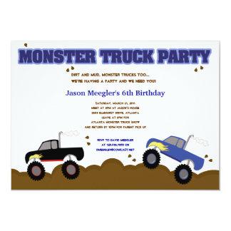 MONSTER TRUCKS 5x7 Birthday Invitations