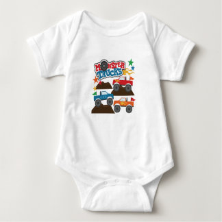 Monster Trucks Baby Bodysuit