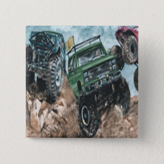 Monster Trucks Button