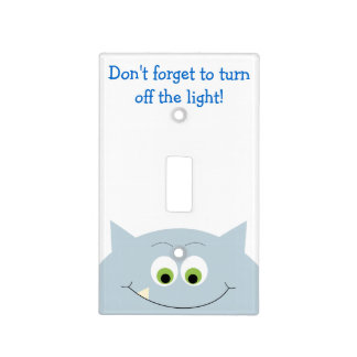 Monster Turn Off The Light Reminder Light Switch Cover