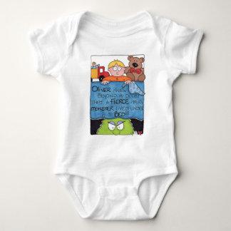 Monster Under The Bed White Infant Baby Crawler Baby Bodysuit