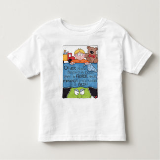 Monster Under The Bed White Toddler SS T-Shirt