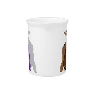Monster vector beverage pitcher