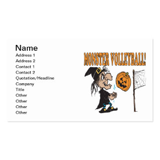 Monster Volleyball Business Card Template
