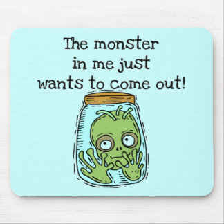 Monster Wants Out Tshirts and Gifts Mouse Pad