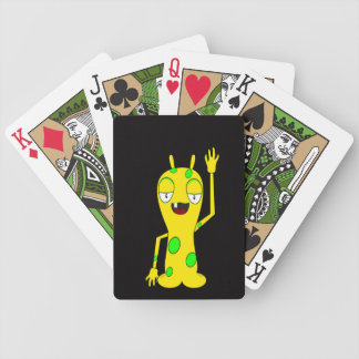 Monster Waving Bicycle Playing Cards